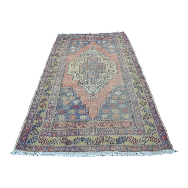 Turkish Tribal Floor Rug - 4′9″ × 8′10″ - Image 1 of 6
