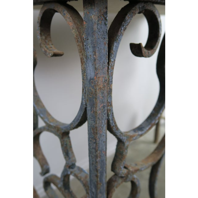 19th C. French Wrought Iron Console For Sale - Image 11 of 12