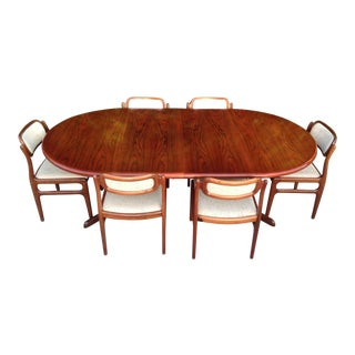 Round Danish Modern Rosewood Dining Set For Sale