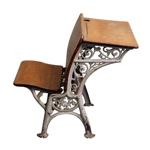Vintage Folding School Row Desk For Sale - Image 5 of 6