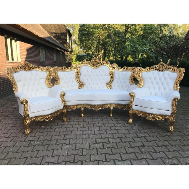 1940's Italian Rococo Living Room Set- 3 Pieces For Sale - Image 11 of 12