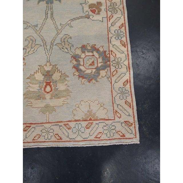 Islamic Vintage Mid-Century Turkish Oushak Rug - 3′ × 6′1″ For Sale - Image 3 of 6