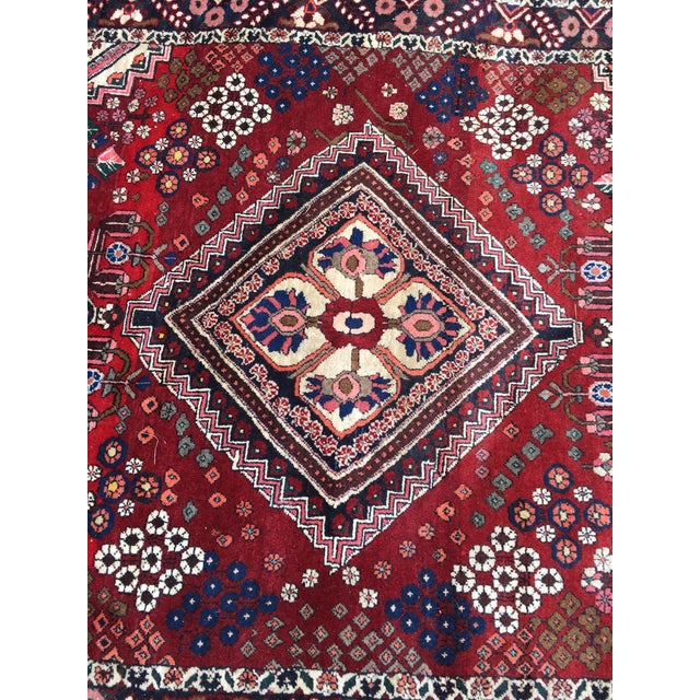 Peaches royal blue and raspberry Gorgeous heirloom rug
