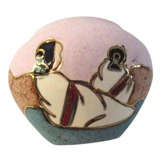 1980s Southwestern Navajo Women Bowl For Sale