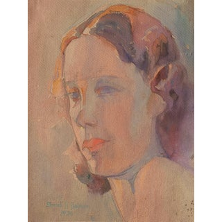 'Study of a Young Woman' by Sarah Hobson, 1936; California Woman Artist, Art Institute of Chicago For Sale