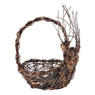 Hand Crafted Vine Reindeer Basket