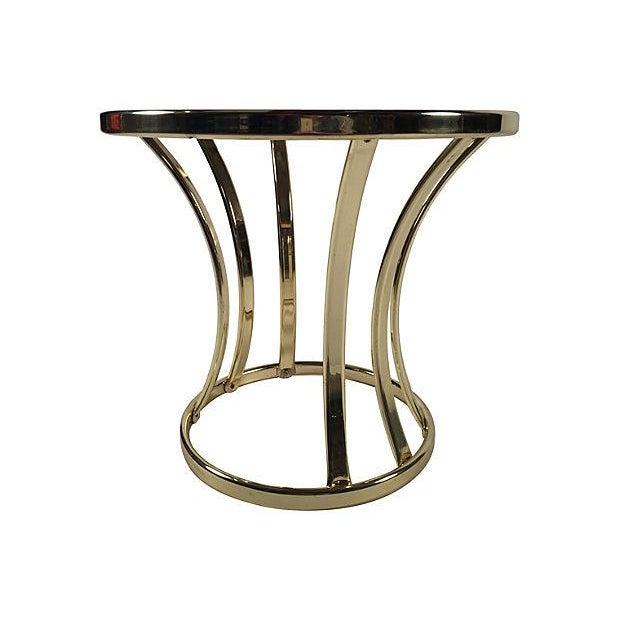 Brass and Glass Side Table - Image 2 of 4