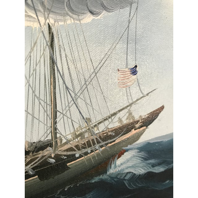 Large Sailing Ship Painting For Sale - Image 10 of 13