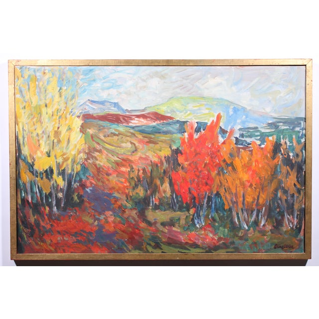 """Vintage """"Autumn Color"""" Oil Painting - Image 2 of 3"""