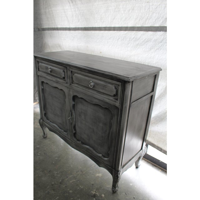 Early 20th Century 20th Century French Gray Oak Cabinet For Sale - Image 5 of 9