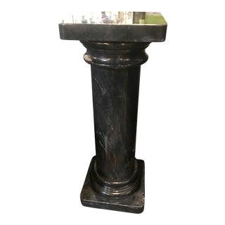 1970s Vintage Marble Column Pedestal Stand For Sale