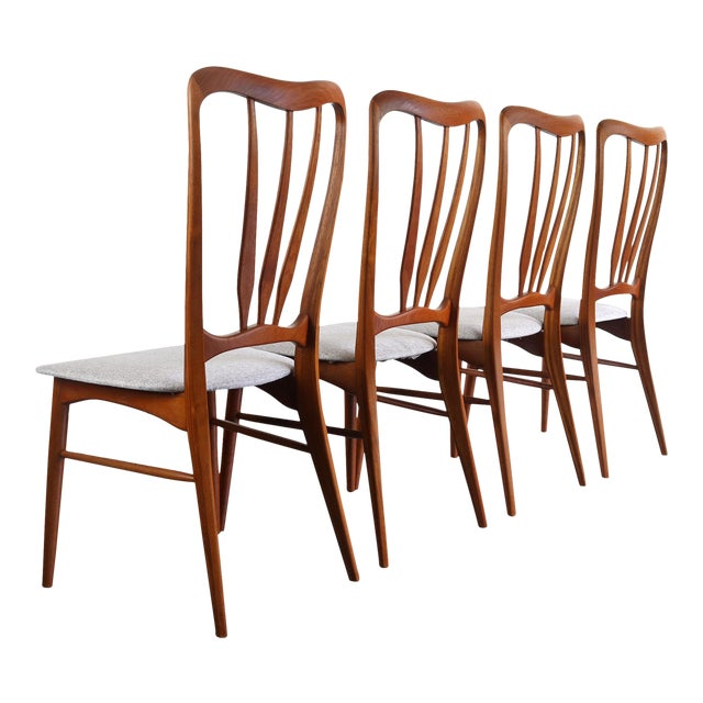 Gorgeous Set of 4 Koefoeds Hornslet Ingrid Chairs For Sale