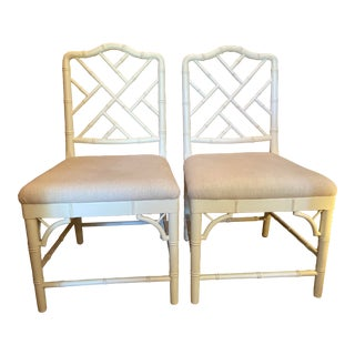 Ballard Designs Chippendale Dayna Side Chairs - a Pair For Sale