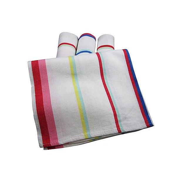 Vintage Awning Stripe Oversize Napkins - S/4 - Image 2 of 4