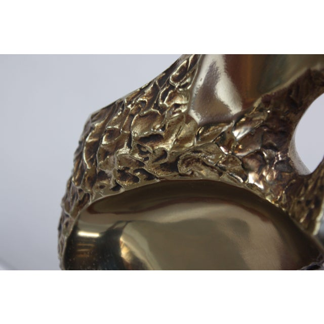 Sculptural Brutalist Brass Table Lamp by Maurizio Tempestini for Laurel For Sale - Image 9 of 13