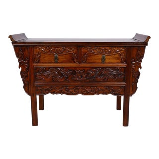 Vintage Chinese Camphor Wood Altar Table For Sale