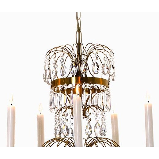 Swedish Gustavian Chandelier For Sale - Image 4 of 4
