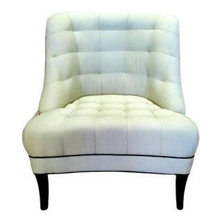 Vintage Tufted Side Chair For Sale