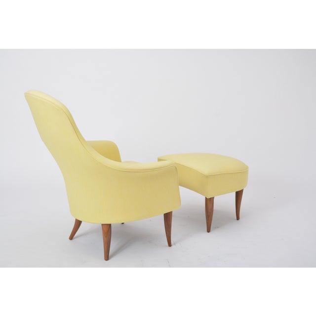 "The ""Stora Adam"" lounge chair and ottoman were designed by Kerstin Hörlin-Holmquist for Nordiska Kompaniet's Triva series,..."