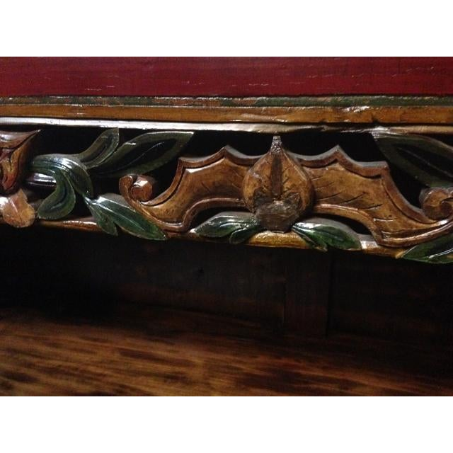 Mid 19th Century Antique Chinese Carved Shelf Sideboard For Sale - Image 5 of 11