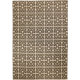 Double-Sided Flat Woven Rug - 10′ × 14′ For Sale