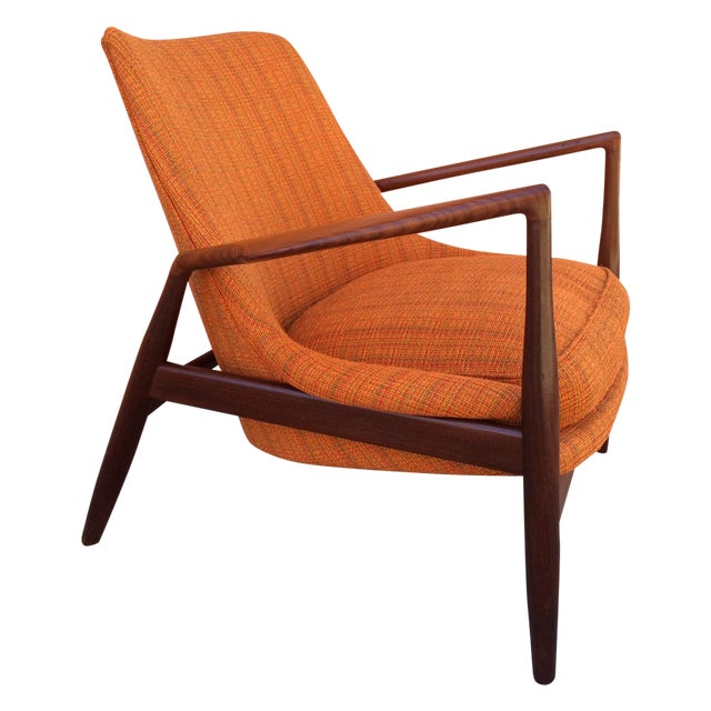 Rare Ib Kofod-Larsen 'Seal' Easy Chair For Sale
