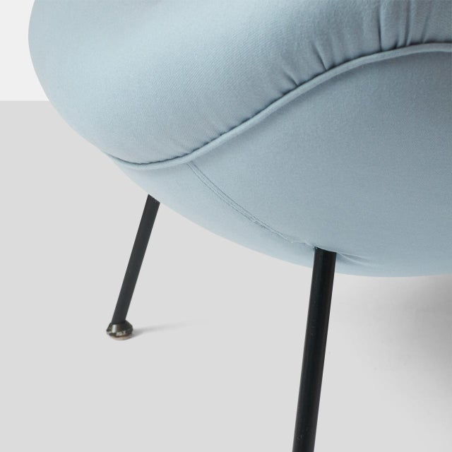 """Baby Blue An """"Egg"""" Chair by Fritz Neth For Sale - Image 8 of 8"""