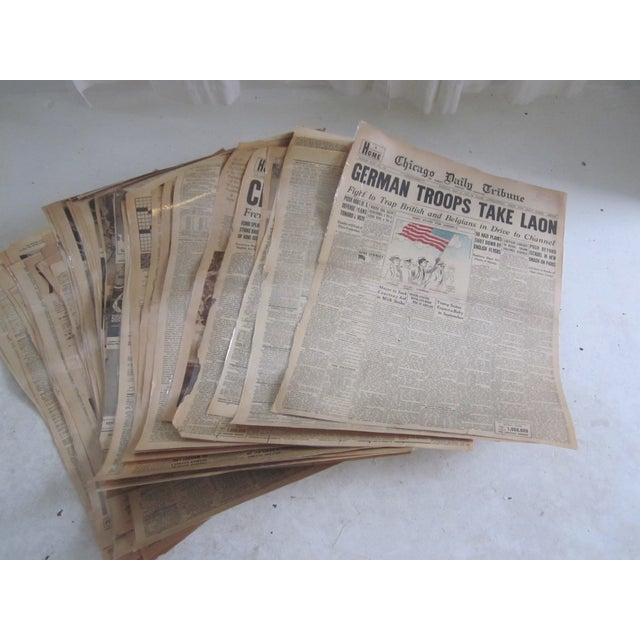 48 Laminated Newspapers from 1940s - Image 2 of 7