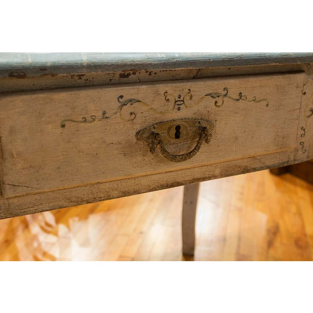 Late 19th Century 1890s Italian Hand Painted Side Table With One Drawer For Sale - Image 5 of 6