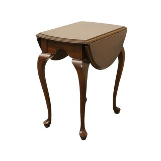 Late 20th Century Vintage Ethan Allen Georgian Court Drop Leaf Table For Sale
