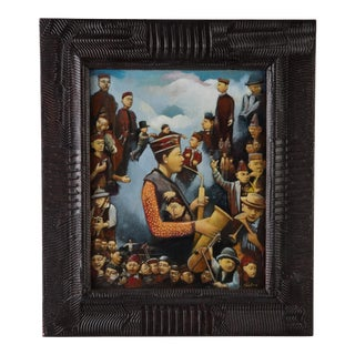 """James Feehan """"Days of Heaven"""" Mixed Media Framed Painting For Sale"""