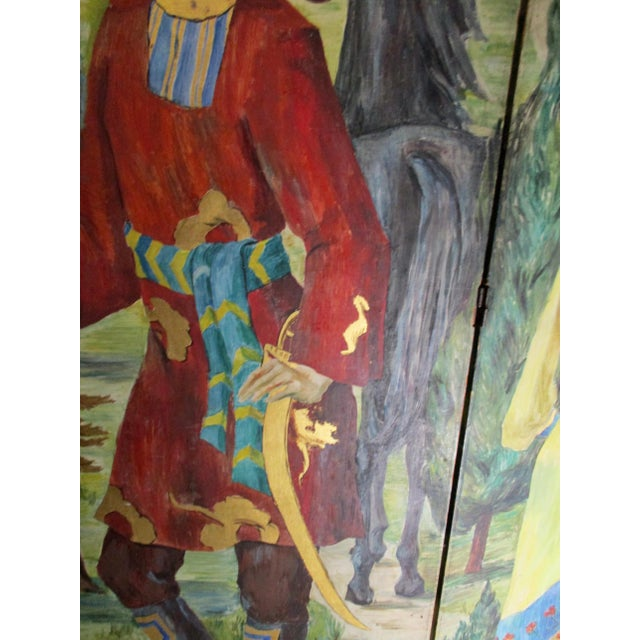 1930s Russian Fairy Tale Floor Screen For Sale - Image 10 of 13