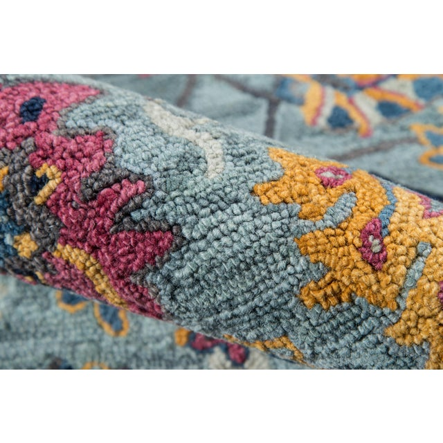 Ibiza Blue Hand Tufted Area Rug 3' X 5' For Sale - Image 4 of 8