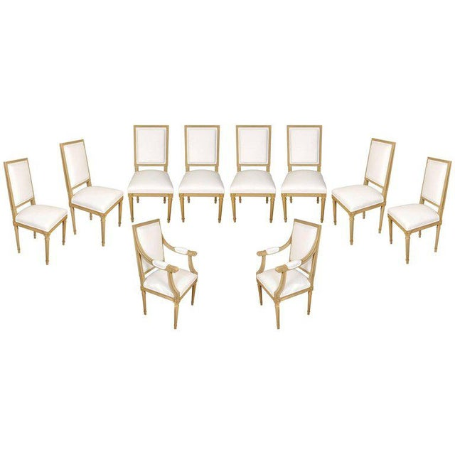 Set of Ten Louis XVI Style Dining Chairs - Image 9 of 9
