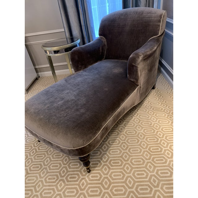 Lee Industries Modern Gray Lee Industries Chaise For Sale - Image 4 of 7