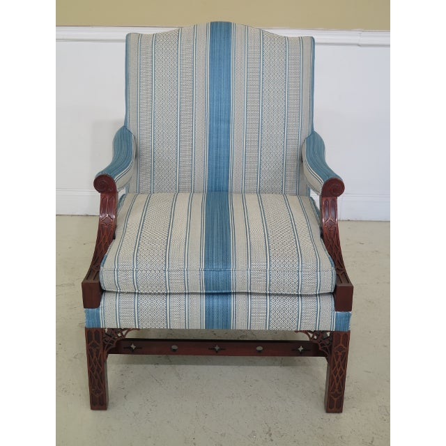 A Pair KINDEL Chippendale Mahogany Upholstered Chairs. 15 years old and high quality construction. 18 C. Design &...