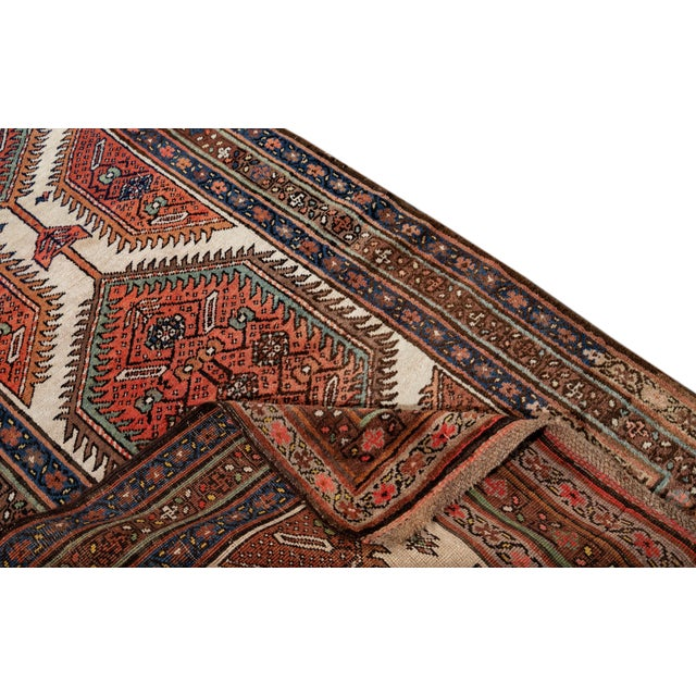 Islamic Mid 20th Century Vintage Runner Rug For Sale - Image 3 of 9