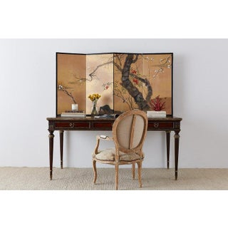 Japanese Four-Panel Screen Prunus Tree With Nandina Preview
