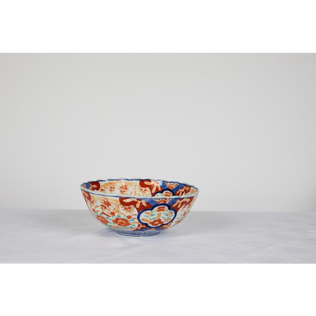 Early 20th Century Japanese Imari Scalloped Bowl For Sale - Image 4 of 11