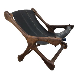 Mid Century Modern Don Shoemaker Rosewood Sling Chair by Senal For Sale