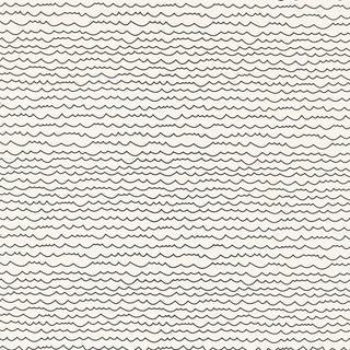 Sample - Schumacher Waves Wallpaper in Black & White Preview