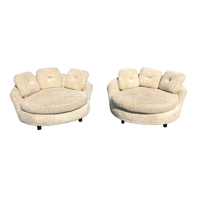 1960s Vintage Adrian Pearsall Style Lounge Chairs - a Pair For Sale