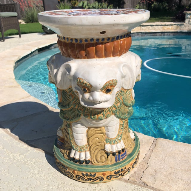 Beautiful and in Perfect Condition this unique garden Stool came from a very upscale 7000sf home. It was kept indoors and...