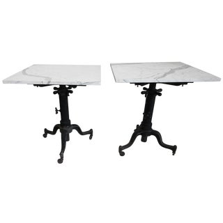 Industrial Adding Machine Tables With Marble Tops