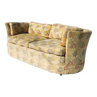 Timeless Vintage Hickory Furniture Barrel Back Loveseat For Sale
