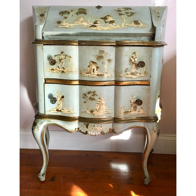 18th/19th Century Venetian Rococo Decoupage & Painted Chinoiserie Writing Desk For Sale - Image 13 of 13