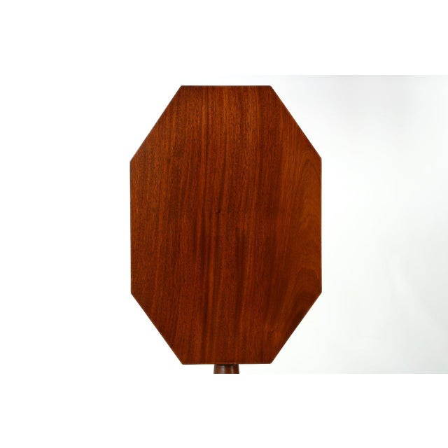 AMERICAN FEDERAL MAHOGANY TILTING CANDLE STAND Probably Rhode Island or Connecticut c. 1805-15 This is such a clean and...