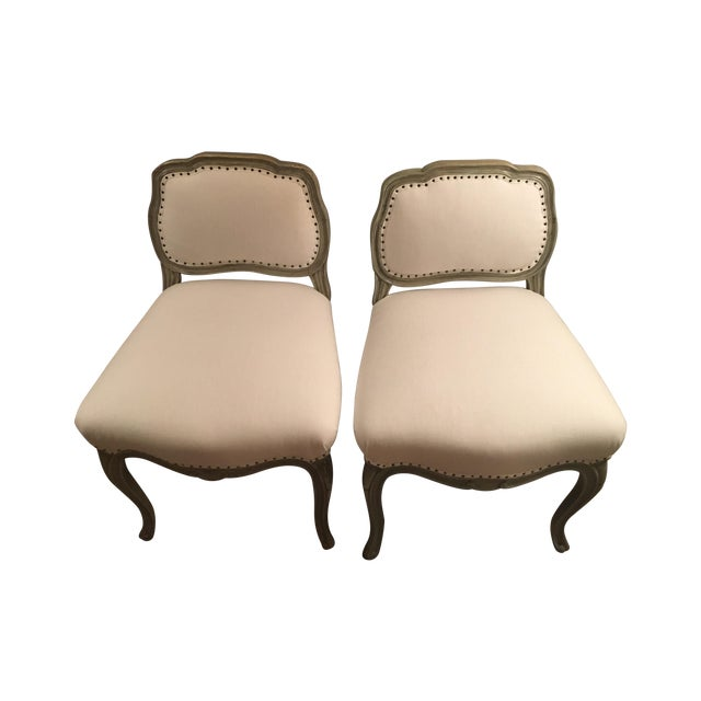 Antique Reupholstered Swedish Chairs - A Pair - Image 1 of 7