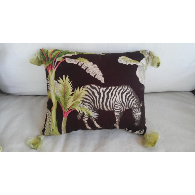 Luxe Leopards & Zebra With Taffeta Ruffled Pillows - Set of 5 - Image 7 of 9