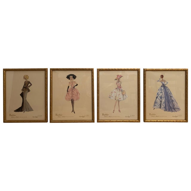 Barbie Fashion Model Collectible Prints - Set of 4 For Sale - Image 13 of 13